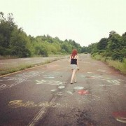 Wandering on abandoned highway