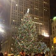 Rockefeller tree at night!