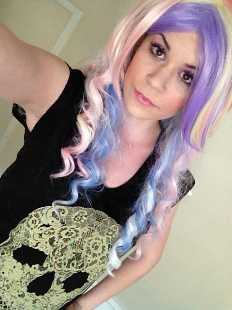 rocking my Gothic Lolita wig