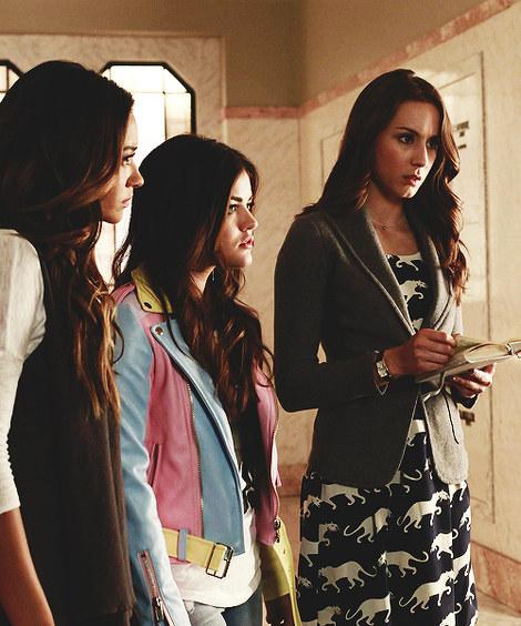 Aria's pastel jacket