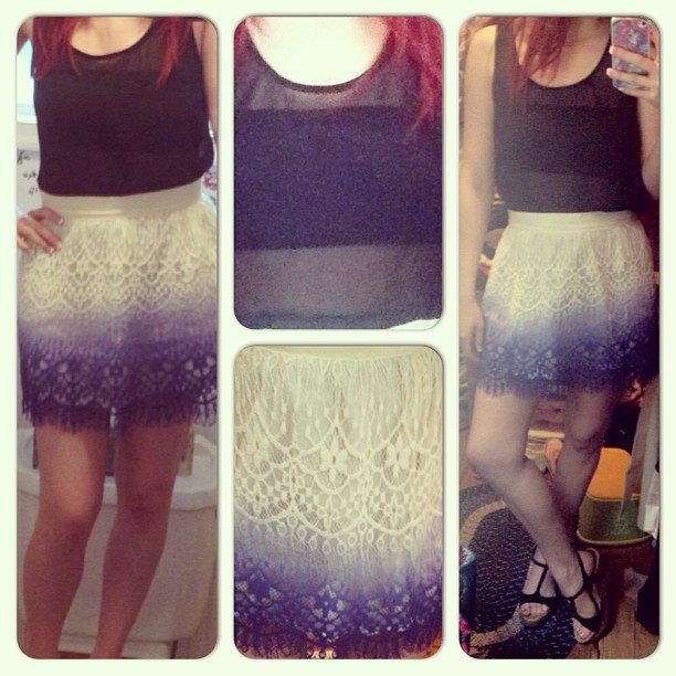 Ombre Crochet Outfit Collage