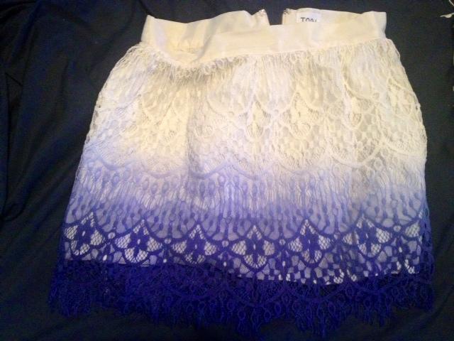 Tobi Ombre Crochet Skirt