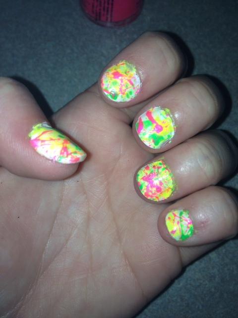 Neon Splatter Paint Nails Neon Paint Splatter