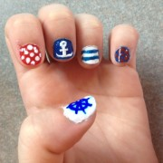 Left Hand- Anchor & Wheel nails