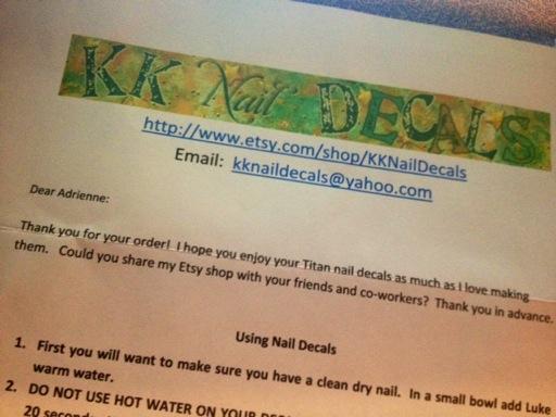 KK Nail Decals