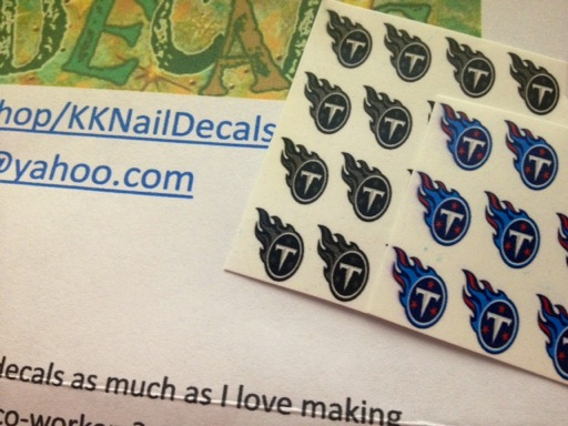 Titans Nail Decals