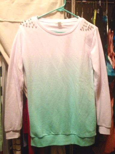 Spiked Ombre Sweatshirt