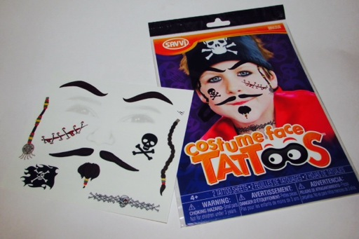 Pirate Costume Face Tattoos