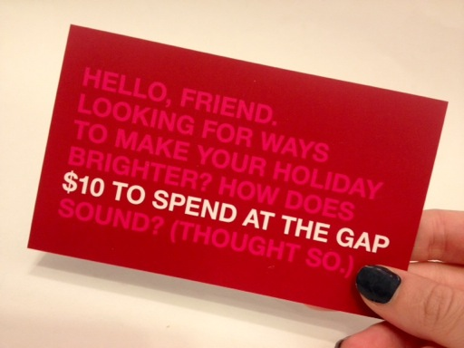 Birchbox Gap coupon