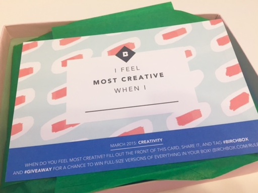 Birchbox Creativity